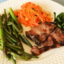 Lamb Chops & Side Dishes in Our Italian Easter Feast 2012