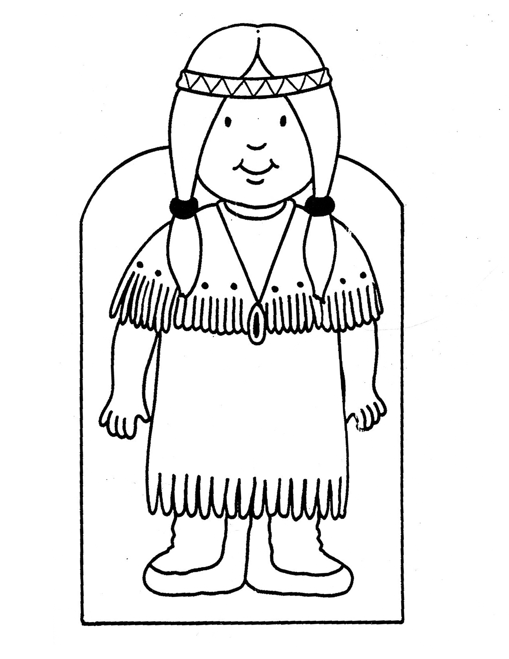 Celebrating thanksgiving ciao from debbie for Girl indian coloring pages