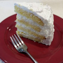 Fresh Coconut Cake–Make it Patriotic!